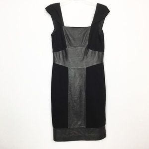 Antonio Melani Real Leather Sheath Dress